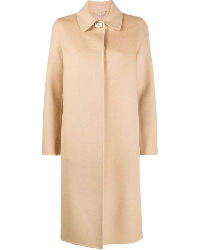 Однобортное кашемировое пальто классическое с воротником Salvatore Ferragamo