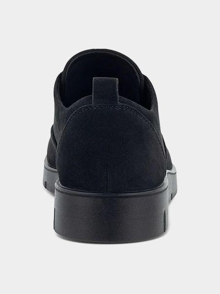 Черные лоферы на шнуровке Ecco