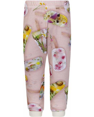 Хлопковые розовые спортивные брюки Molo