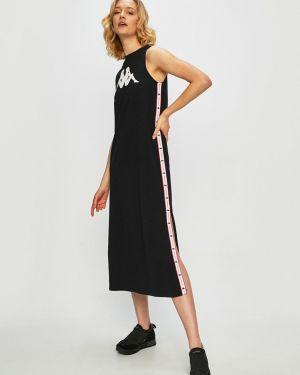 Трикотажное платье миди - черное Kappa