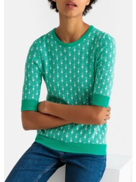 Пуловер однотонный короткий La Redoute Collections