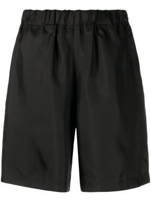 Шелковые черные шорты эластичные Sofie D'hoore