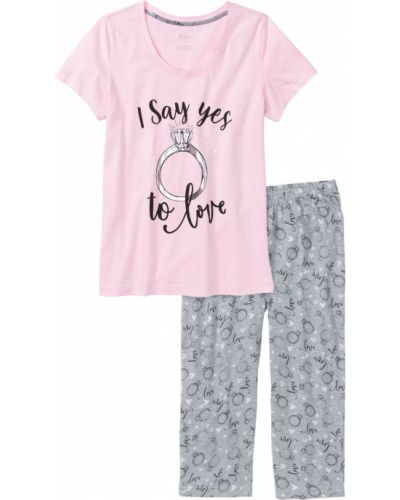 Пижама серая меланж Bonprix