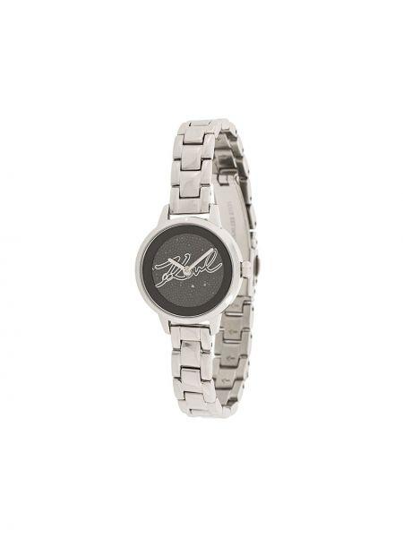 Zegarek kwarcowy szary do twarzy Karl Lagerfeld