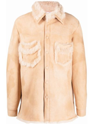 Beżowa koszula z długimi rękawami Erl