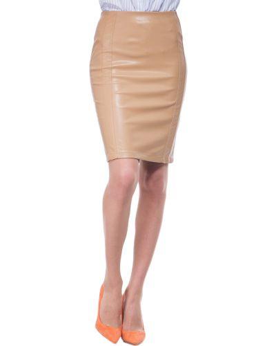 Кожаная юбка из искусственной кожи бежевый Patrizia Pepe