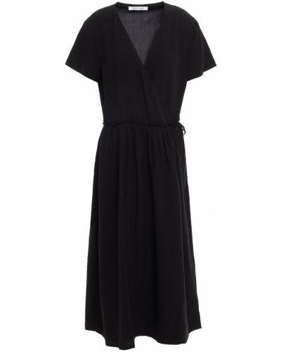 Кружевное платье миди - черное SamsØe Φ SamsØe