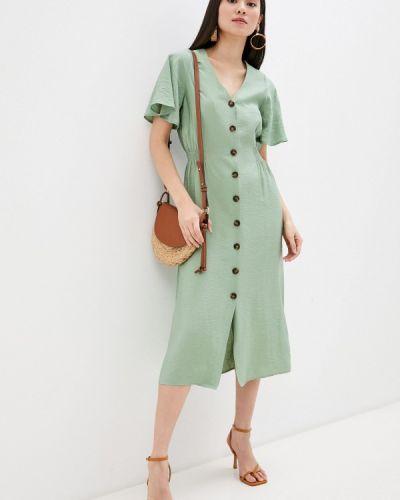 Прямое платье - зеленое Zarina