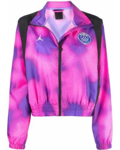 Фиолетовая спортивная длинная куртка с воротником-стойка Jordan