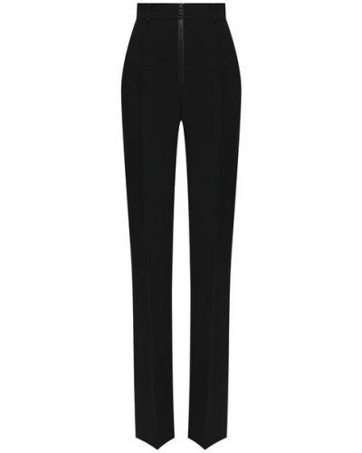 Черные классические брюки с карманами из вискозы N21