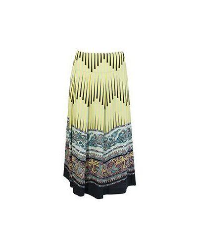 Шерстяная зеленая юбка миди Etro