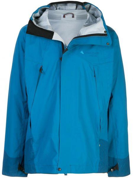 Прямая куртка с капюшоном на молнии Klättermusen