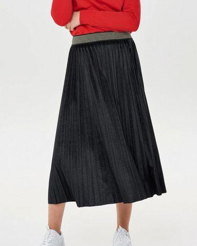 Плиссированная юбка черная Only