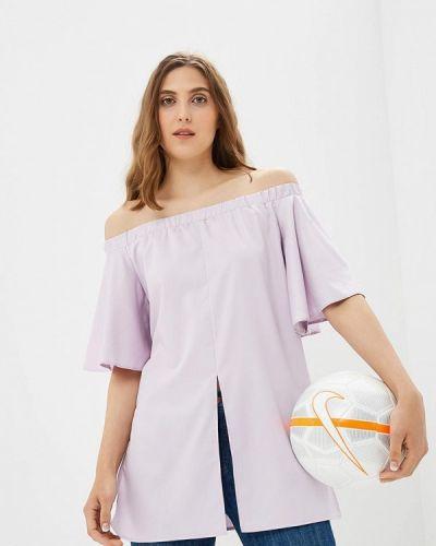 Фиолетовая блузка с рюшами Vittoria Vicci