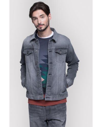 Szary kurtka jeansowa Vistula