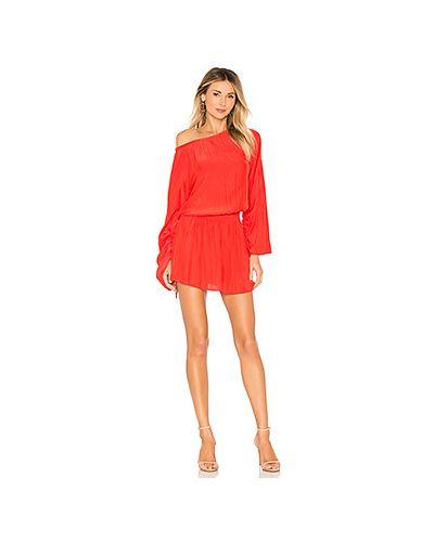 Платье с поясом красный Ramy Brook