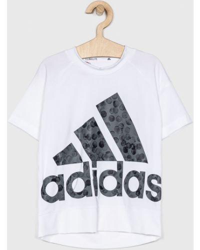 Футболка эластичная белая Adidas Performance
