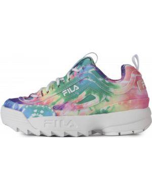 Спортивные кроссовки на шнуровке Fila