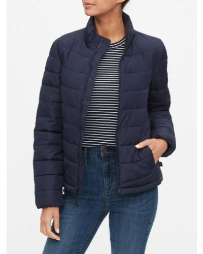 Стеганая куртка - синяя Gap