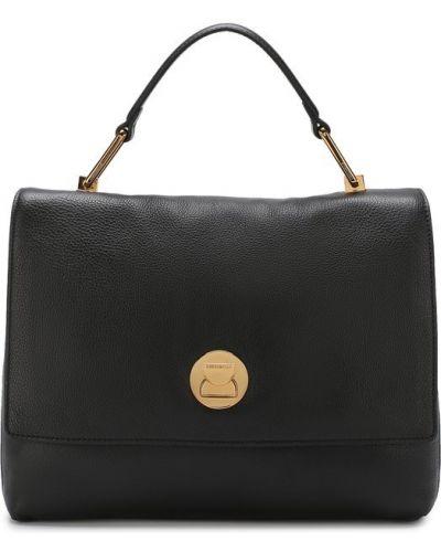 Спортивная сумка кожаный с логотипом Coccinelle