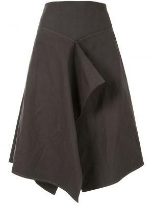 Bawełna bielizna z wysokim stanem spódnica z draperią Lemaire