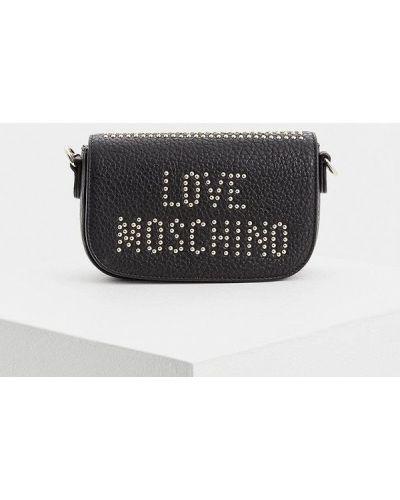 Сумка через плечо кожаный Love Moschino
