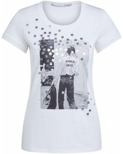 T-shirt z printem - niebieska Oui