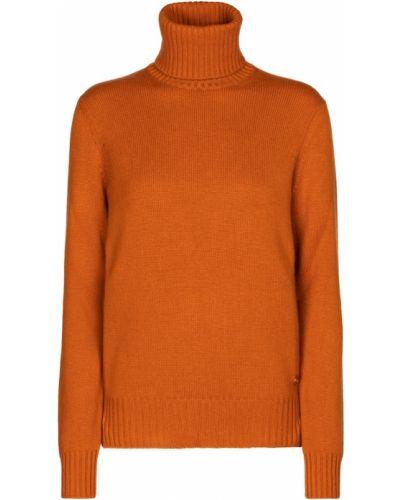 Pomarańczowy z kaszmiru sweter Loro Piana