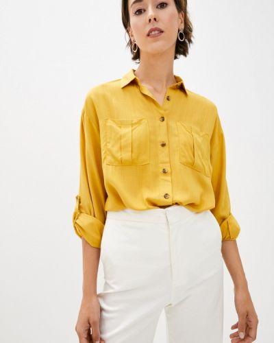 Желтая блузка с длинным рукавом с длинными рукавами Defacto