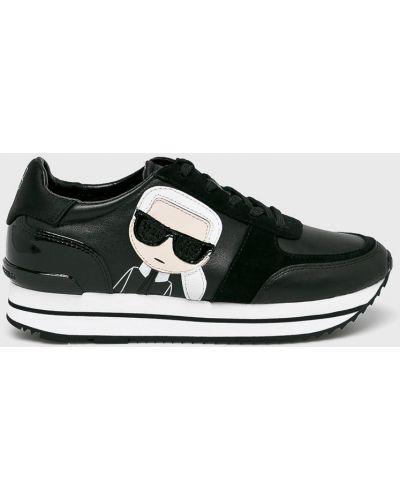 Кроссовки на платформе текстильные мягкие Karl Lagerfeld