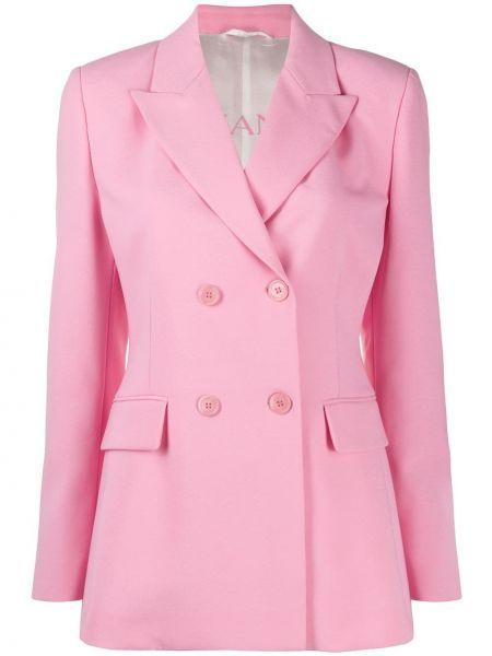 Розовый пиджак двубортный на пуговицах Ermanno Ermanno