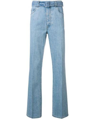 Расклешенные джинсы с карманами с поясом Prada