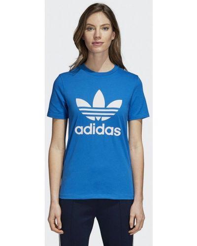 Синяя футболка 2019 Adidas Originals