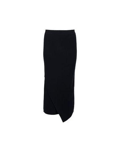 Шерстяная юбка миди - черная Allude