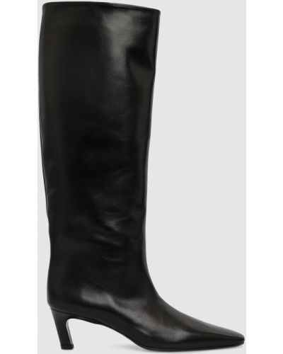 Кожаные сапоги - черные Babe Pay Pls