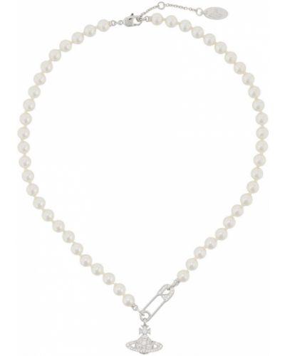 Ожерелье на змейке - белое Vivienne Westwood