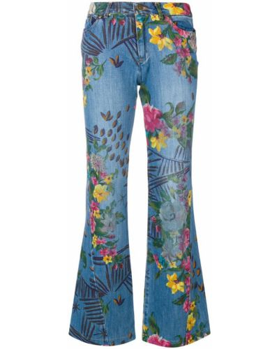 Прямые джинсы с карманами винтажные Kenzo Pre-owned