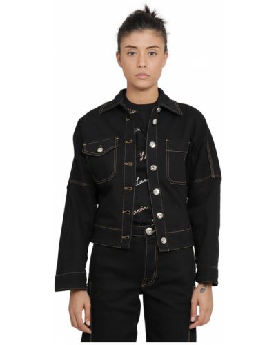 Czarny płaszcz Lanvin