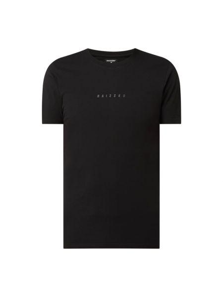 Czarny t-shirt bawełniany z printem Raizzed