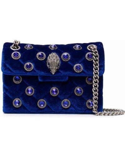 Niebieska torebka srebrna Kurt Geiger London