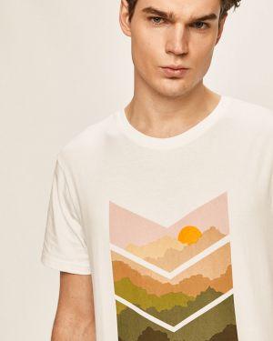 Biały t-shirt bawełniany z printem Clean Cut Copenhagen