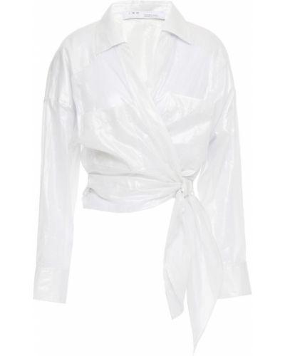 Серебряная хлопковая блузка с манжетами Iro