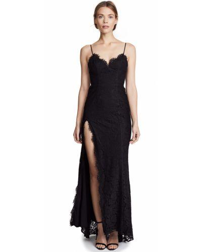 Кружевное черное платье макси с открытой спиной Fame And Partners