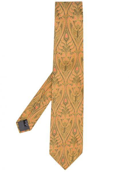 Złoty krawat - pomarańczowy Gianfranco Ferré Pre-owned