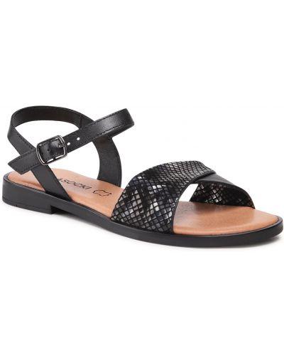Czarne sandały skorzane Lasocki
