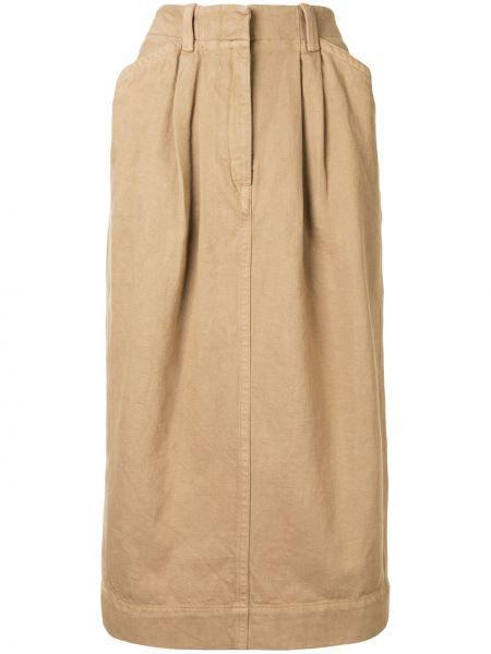 Spódnica ołówkowa z paskiem z kieszeniami Lemaire