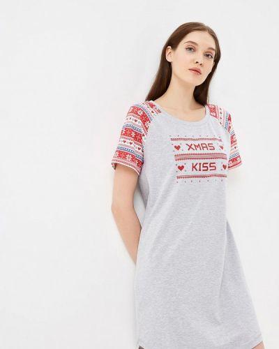 Платье осеннее серое Vis-a-vis