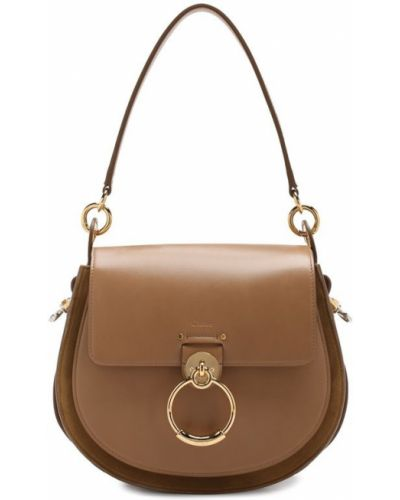 Бежевая кожаный сумка Chloé