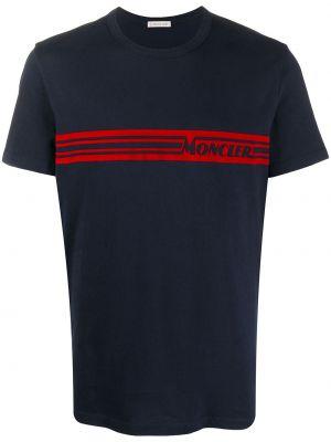 Bawełna prosto niebieski koszula z krótkim rękawem krótkie rękawy Moncler