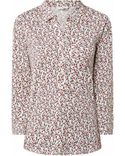 Beżowa bluzka z nadrukiem z printem Tom Tailor